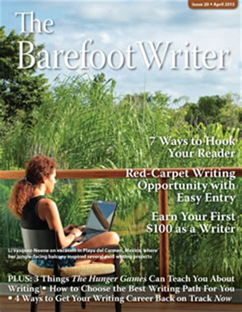 barefoot writer live the barefoot writer april issue