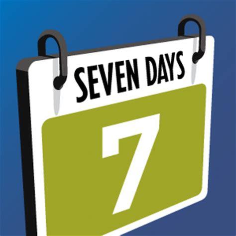 seven days seven days calendar 7dayscalendar