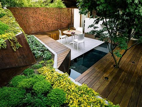 outdoor sitting area outdoor deck and water feature japanese room home design