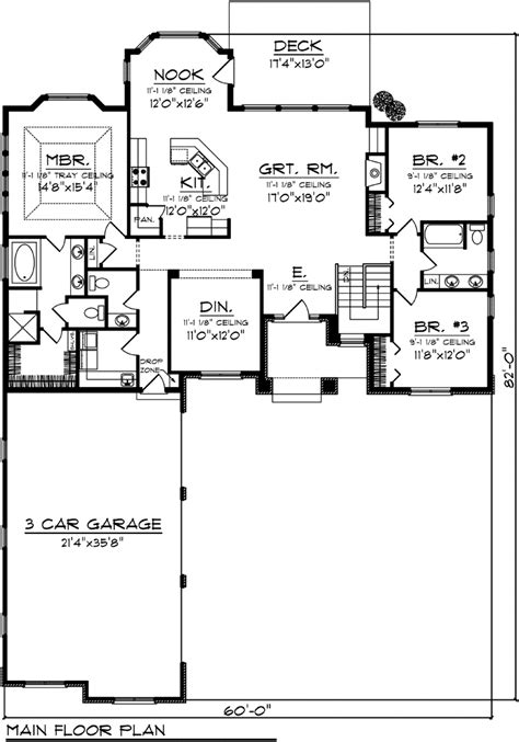 Multi Family Home Plans Duplex house plan 73141 at familyhomeplans com