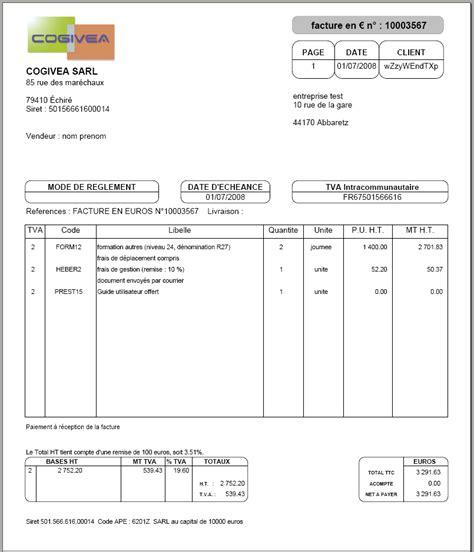modele facture vierge auto entrepreneur word – Invoice Home