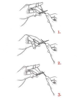 how to begin knitting how to purl knothing but knits
