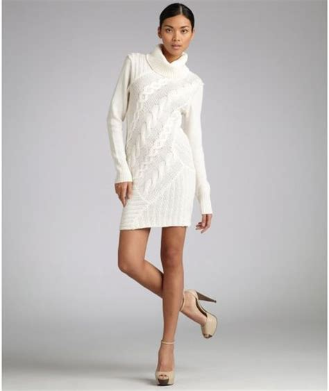 ivory cable knit sweater dress christopher fischer ivory cable knit merino wool