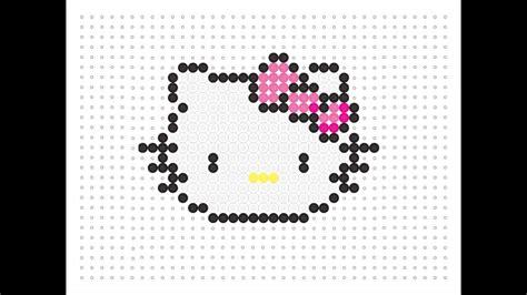 hello hama bead pattern hama bead hello kawaii series 9