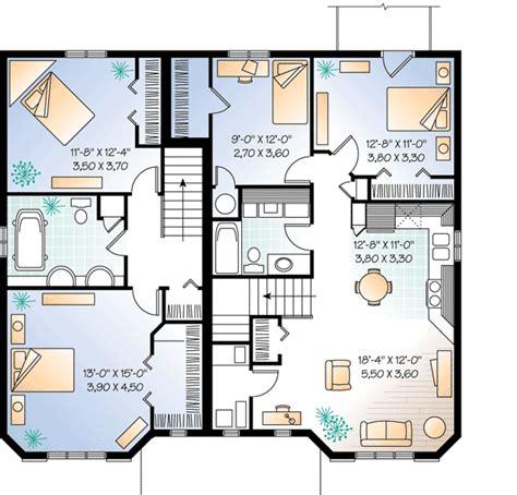 multi family house plans apartment plan w21428dr three unit apartment house plan e