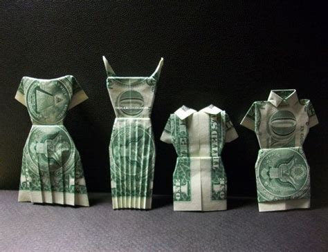 money origami dress dress money origami s clothes made of dollar bill