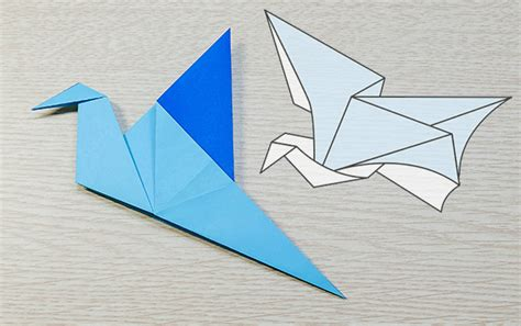 origami wings origami swan that flaps wings comot