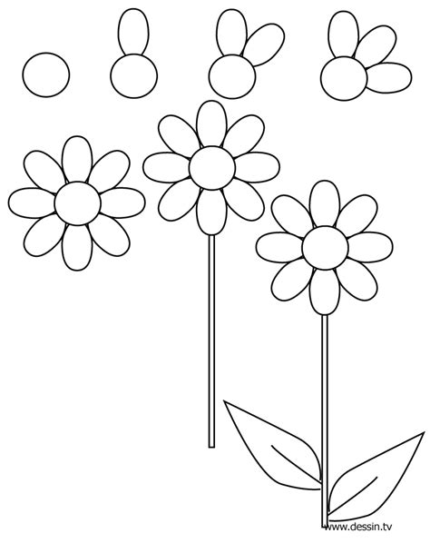 flowers step by step how to draw a flower dr
