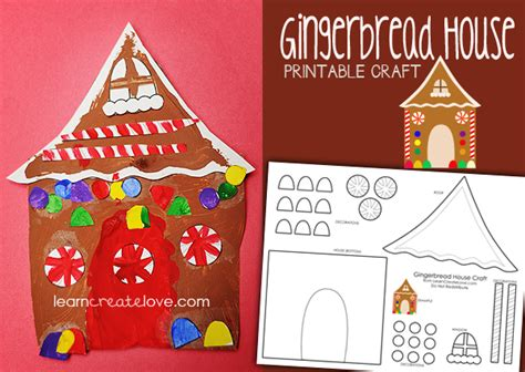 gingerbread house craft for printable gingerbread house craft