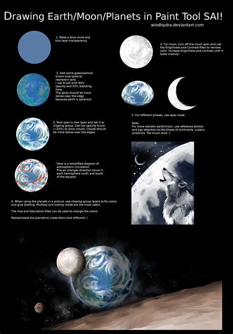 paint tool sai how to make shapes drawing earth moon planet in paint tool sai by windhydra