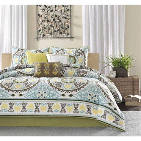 yellow and brown comforter set king 7pc bedding set cotton poly comforter blue yellow