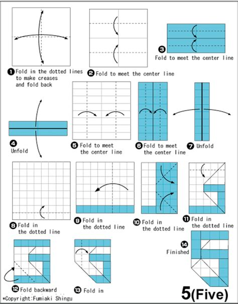 how to make origami numbers origami 5 five
