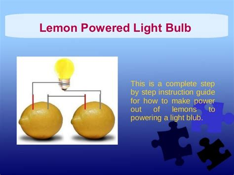 how to power lights with a battery lemon powered light bulb