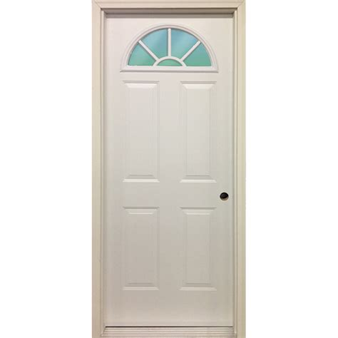 steel exterior door 32 quot fan lite exterior steel door unit bargain outlet