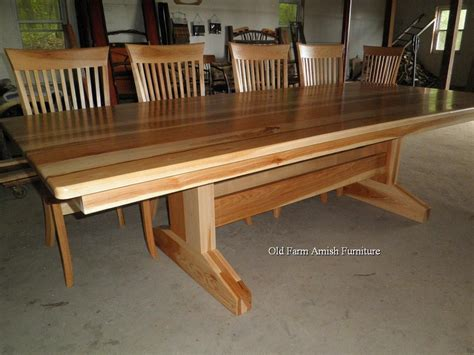 Custom Made Dining Room Tables custom dining room table amp chairs by old farm amish