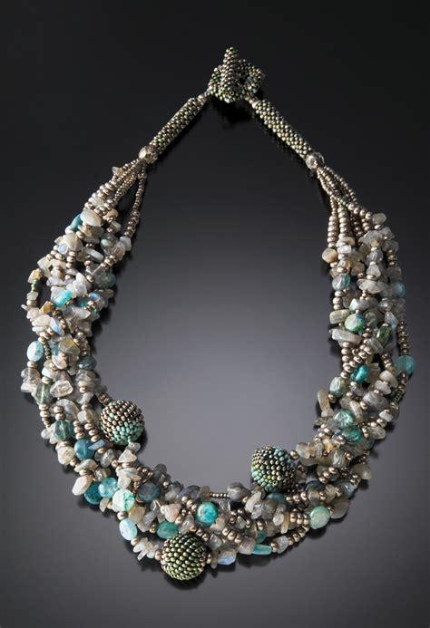 beaded bead multi strand beaded bead necklace julie powell design
