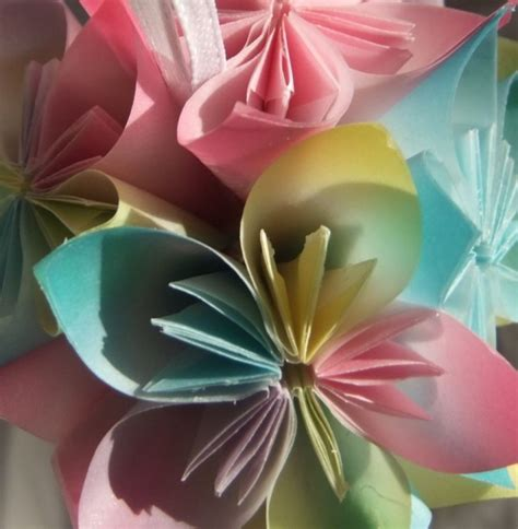 origami small flower pastel origami ornament aftcra