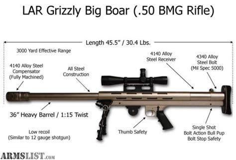 Lar 50 Bmg by Armslist For Sale L A R Grizzly Big Boar 50bmg