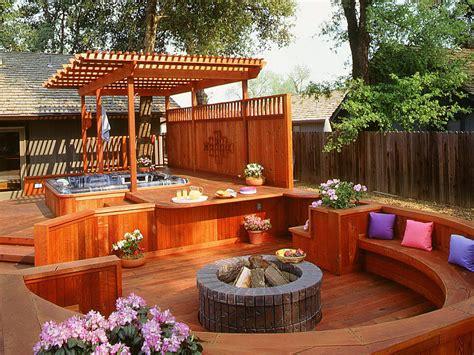 tub backyard ideas small deck ideas with tub home design ideas