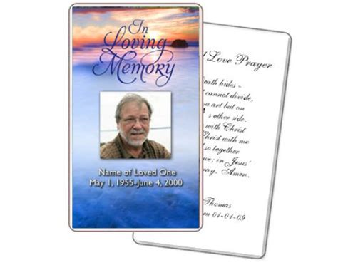 how to make funeral cards 8 best images of free printable memorial prayer cards