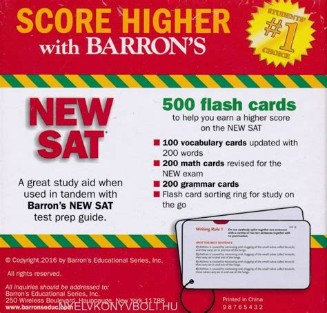 barron s new sat flash cards 3rd edition 500 flash cards to help you achieve a higher score barron s new sat flash cards 3rd edition 500 flash cards
