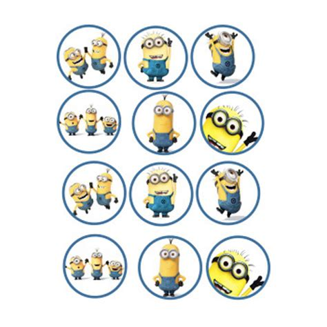 Frosting Decorations by Minion Edible Image Cupcake Toppers Shore Cake Supply