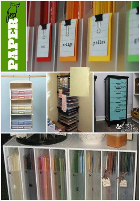 organizing craft paper 35 crafty craft storage solutions paper storage and storage