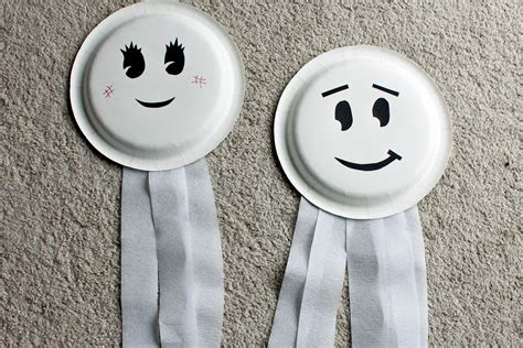 paper plate ghost craft paper plate ghosts who arted