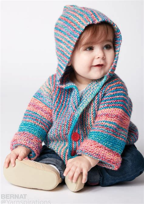 all in one knitted baby jacket free knitting pattern for show your stripes baby jacket