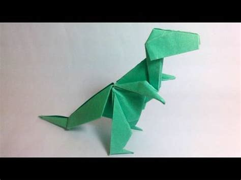 tyrannosaurus origami origami tyrannosaurus rex montroll dinosaur 1