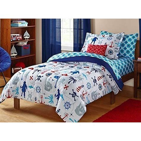 nautical bed in a bag sets pirate bedding keeco nautical skull sea themed set