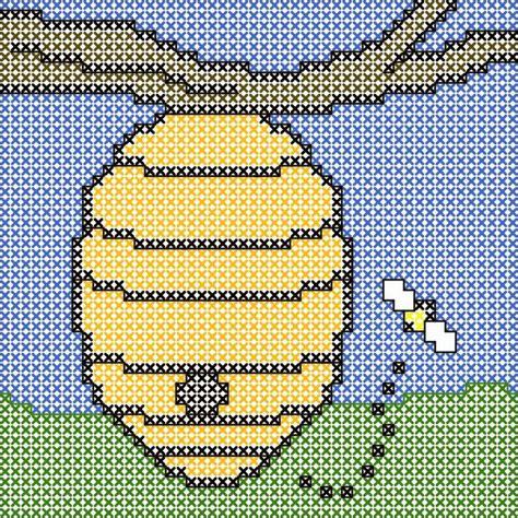 bead hive pin by f p molina on knit crochet tunisian cross stitch