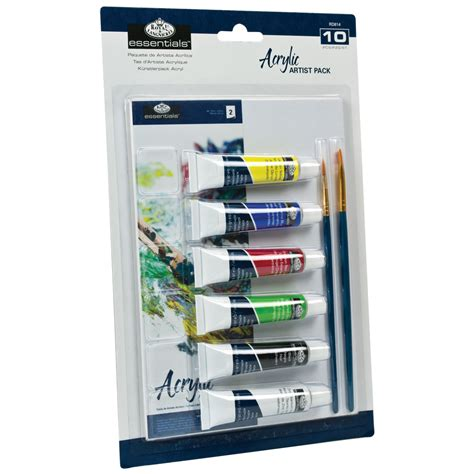 acrylic paint essentials royal langnickel essentials artist pack acrylic painting
