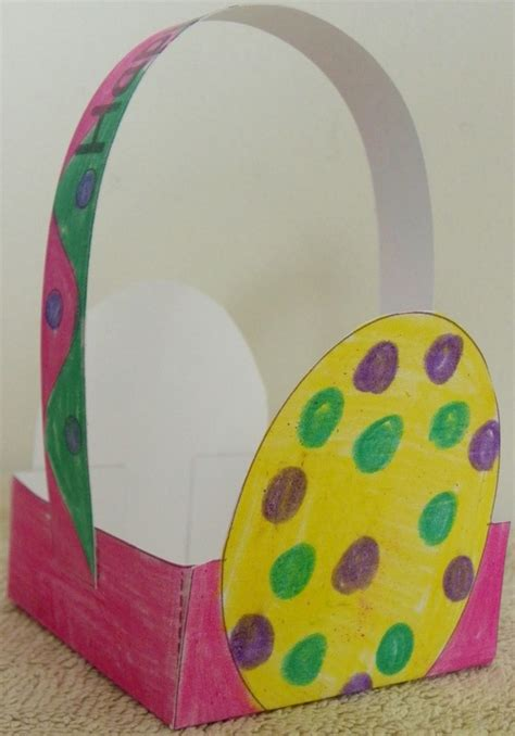 easter basket crafts for easter basket craft for with free template and