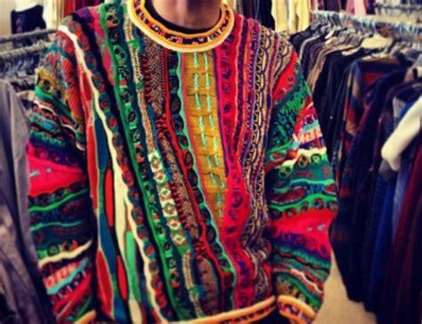 multi color sweater knitting pattern sweater multicolor 90s style pattern pattern