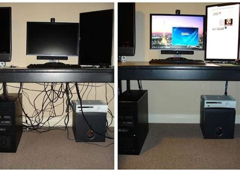 hide computer wires desk 8 neat ways to hide or make due with wires room bath