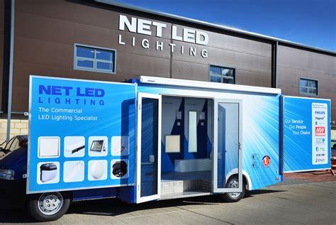 the net led lighting mobile exhibition vehicle net led