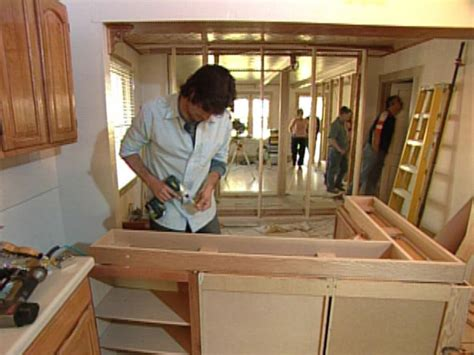kitchen island building plans how to building a kitchen island with cabinets hgtv