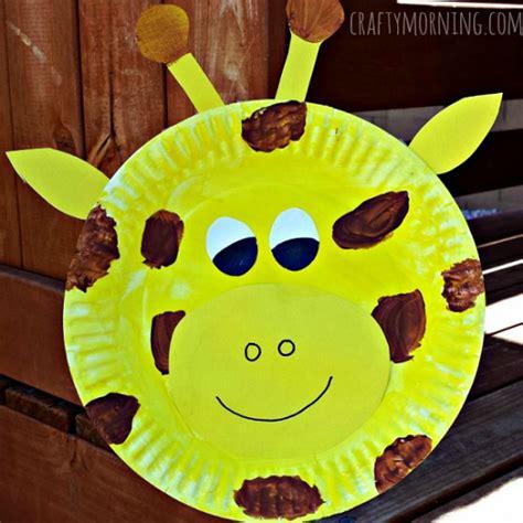 giraffe paper plate craft paper plate giraffe craft for crafty morning