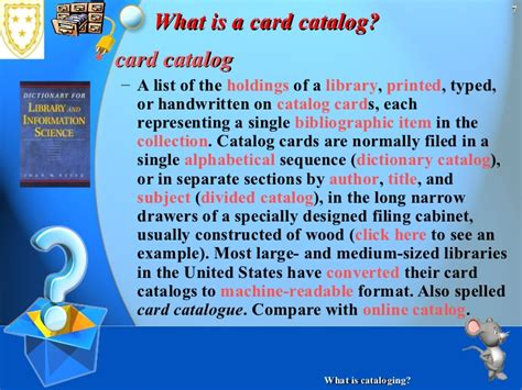what is card what is cataloging