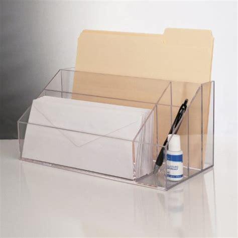 acrylic desk organizers new clear acrylic desktop organizer work home office desk