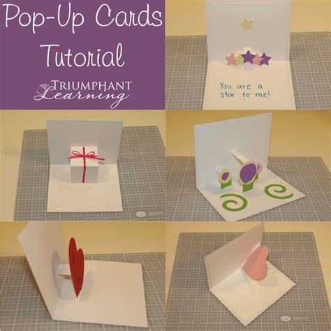 how to make a pop up card with words diy pop up card tutorial triumphant learning