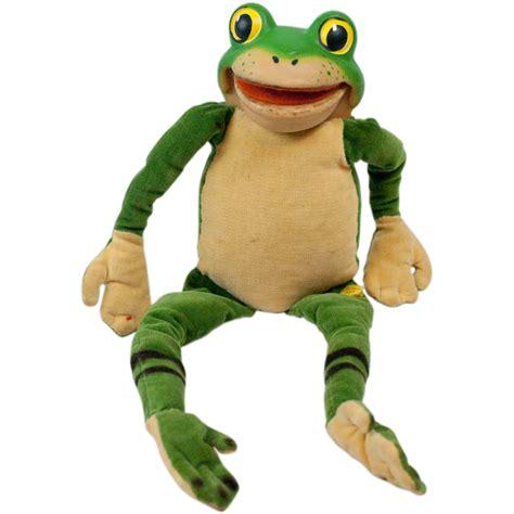 frog rubber st 1960s steiff velvet frog with rubber riveted button