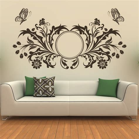 sticker designs for walls butterfly design floral circle wall sticker transfers