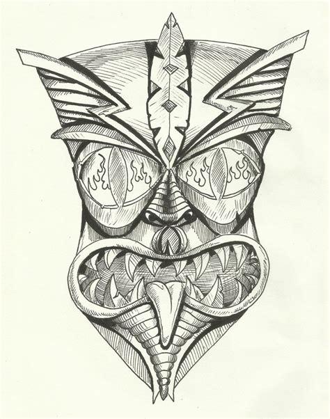 maori tiki mask by aquilianranger on deviantart