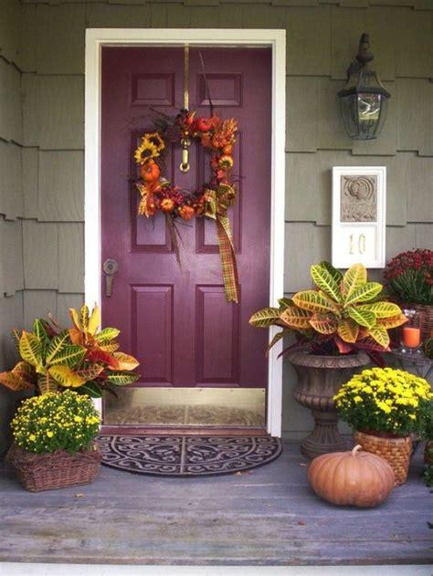 ideas for fall get into the seasonal spirit 15 fall front door d 233 cor ideas