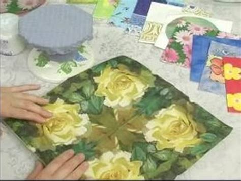 what can i decoupage how to decoupage how to decoupage a glass platter