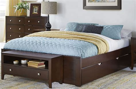 platform bed with trundle pulse chocolate king platform bed with trundle 32004nt