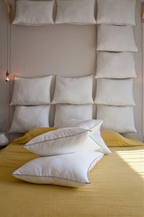 diy pillow headboard just add pillows the diy headboard for 35 remodelista