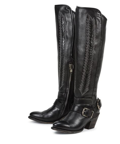 ladies boots on sale new black tall leather womens ladies cowboy fashion riding